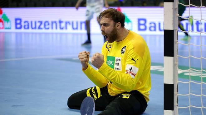 Andreas Wolff freut sich mit dem DHB-Team über das Olympia-Ticket