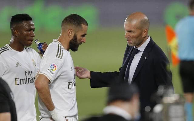 Zinedine Zidane muss auf Karim Benzema verzichten