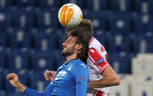 In der ersten Halbzeit stand Hoffenheims Florian Grillitsch noch auf dem Platz und agierte souverän.