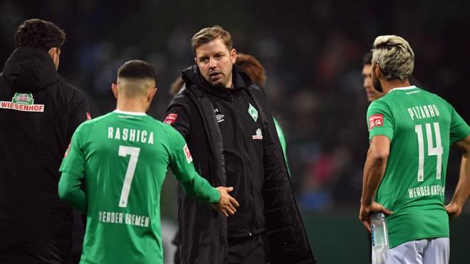 Milot Rashica (l.) ist derzeit keine große Hilfe für Cheftrainer Florian Kohfeldt