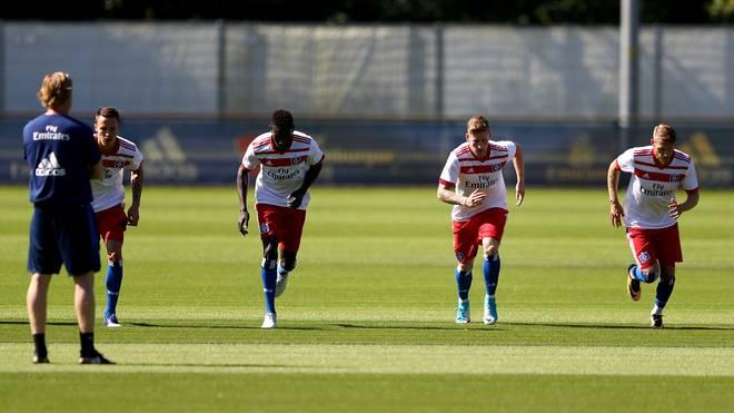 Die Spieler des Hamburger SV bereiten sich auf die neue Saison vor