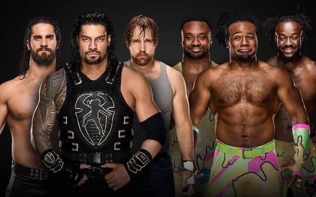 The Shield (l.) trifft bei den WWE Survivor Series auf The New Day