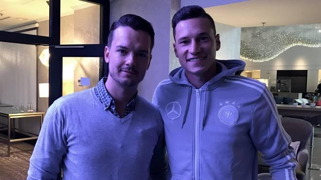 SPORT1-Chefreporter Florian Plettenberg (l.) traf Julian Draxler in München zum Interview