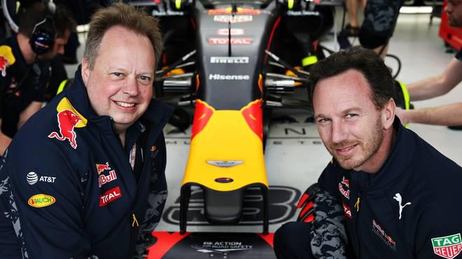 Andy Palmer (l.) von Aston Martin und Red-Bull-Chef Christian Horner bauen die Partnerschaft aus
