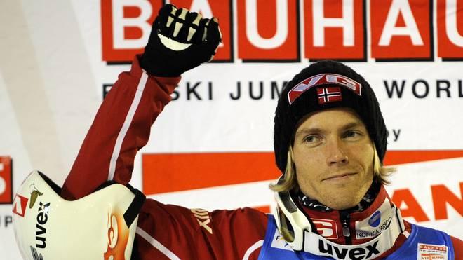 Norway's Bjoern Einar Romoeren (C) celeb