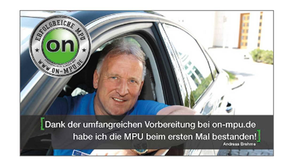 Andreas Brehme in der Anzeige seines neuen Werbepartners