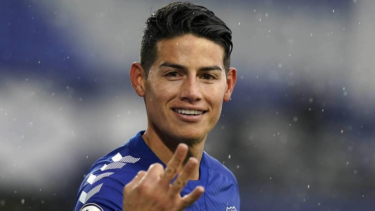Da schien die Welt noch in Ordnung: James legte bei Everton einen vielversprechenden Start hin