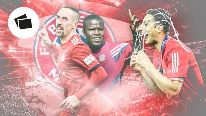 Franck Ribéry (l.) ist der Legionär mit den meisten Einsätzen in der Geschichte des FC Bayern