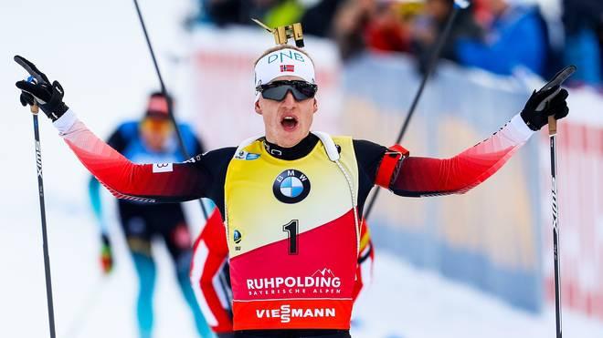 IBU Biathlon World Cup - Men's and Women's Mass Start: Johannes Thingnes Bö aus Norwegen