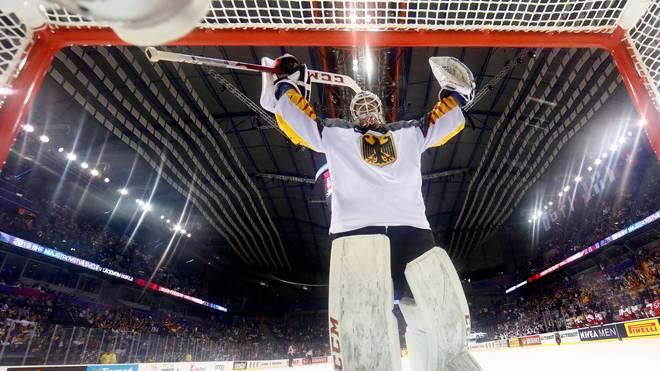 Eishockey WM, Mathias Niederberger jubelt