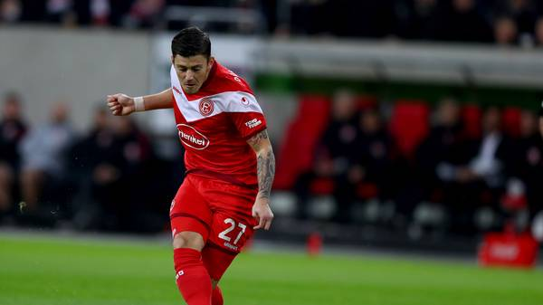 Bundesliga: Dawid Kownacki von Fortuna Düsseldorf erleidet Muskelfaserriss, Düsseldorfs Stürmer Dawid Kownacki fällt aus