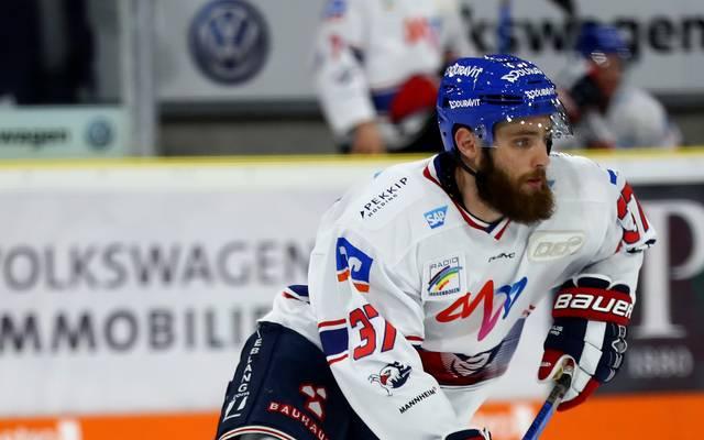 DEL: Thomas Larkin von den Adler Mannheim verletzt , Thomas Larkin von den Adler Mannheim fällt wochenlang aus