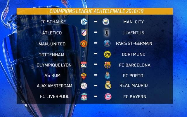 Das Achtelfinale der Champions League im Überblick
