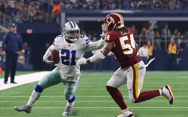 NFL Washington Redskins v Dallas Cowboys Ezekiel Elliott lief gegen die Redskins für 121 Yards und einen Touchdown