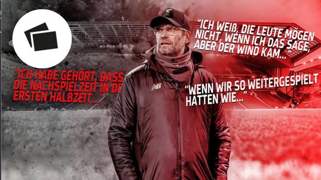 Jürgen Klopp hat bereits mehrfach Misserfolge seiner Mannschaft mit widrigen äußeren Bedingungen erklärt