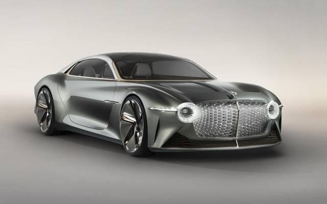 Luxuriöse Elektrosause von übermorgen: Mehr als 300 km/h schnell soll der EXP 100GT laut Bentley fahren können