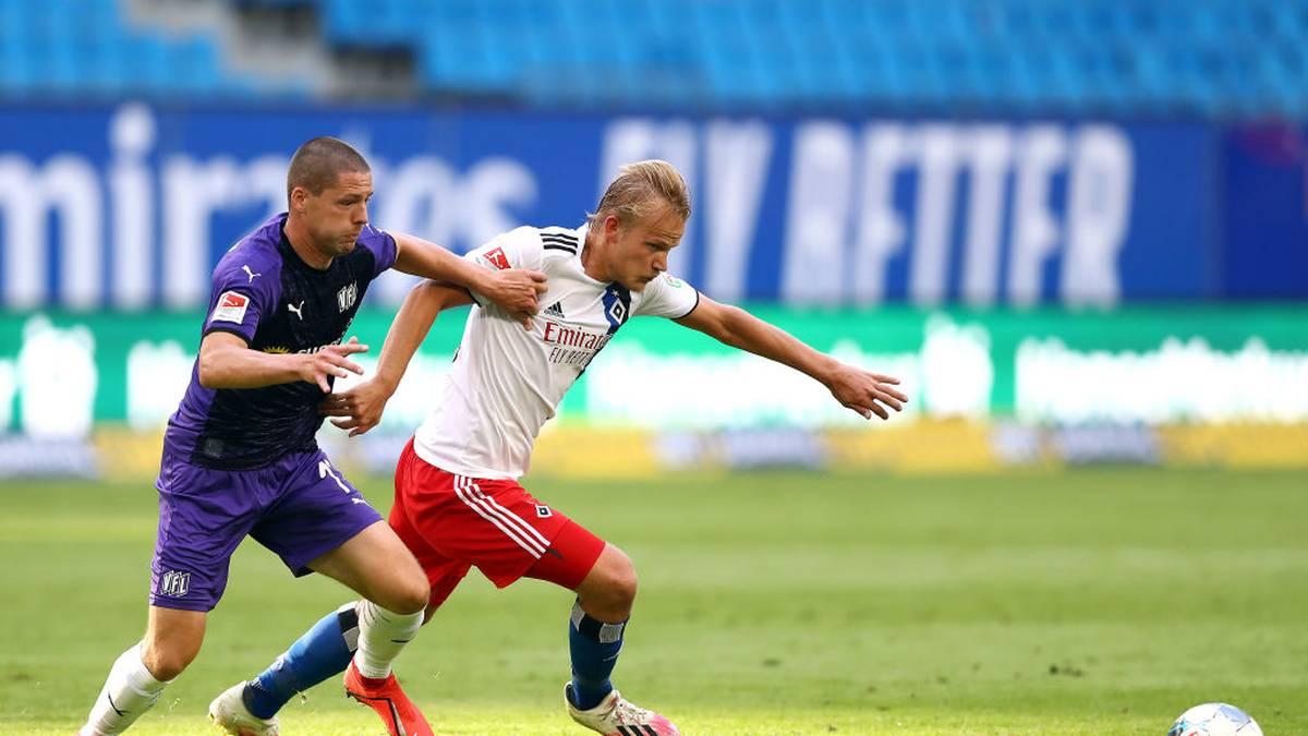 Der Hamburger SV kommt gegen den VfL Osnabrück nur zu einem Remis