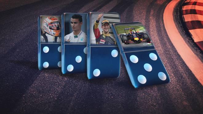 Dominosteine Formel 1-Fahrer 2016