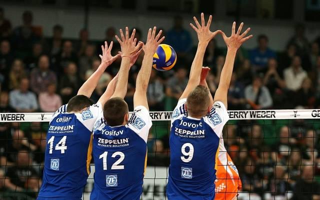 Berlin Volleys gewinnen gegen den VfB Friedrichshafen