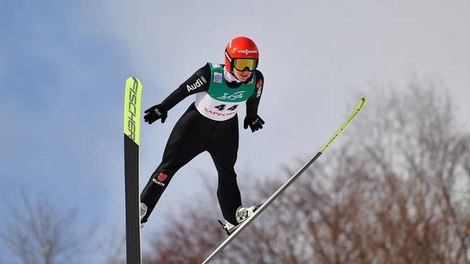 Katharina Althaus verpasste das Podest nach einem schwachen zweiten Sprung