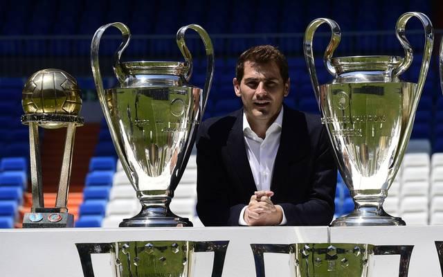 FBL-ESP-POR-REALMADRID-PORTO-CASILLAS Iker Casillas hat den Großteil seiner CL-Einsätze für Real Madrid absolviert und dort auch große Erfolge gefeiert