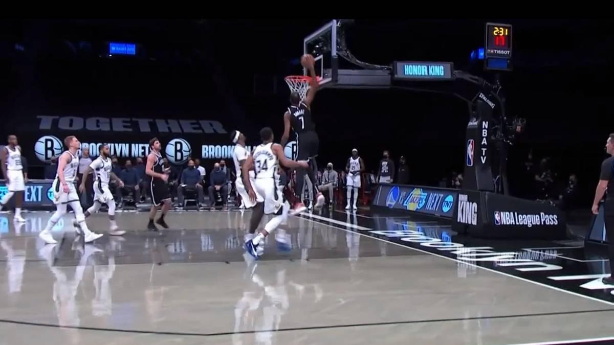 Die Brooklyn Nets schlagen auch die Milwaukee Bucks - und das wieder ohne Kyrie Irving. Dafür glänzen Kevin Durant und James Harden.