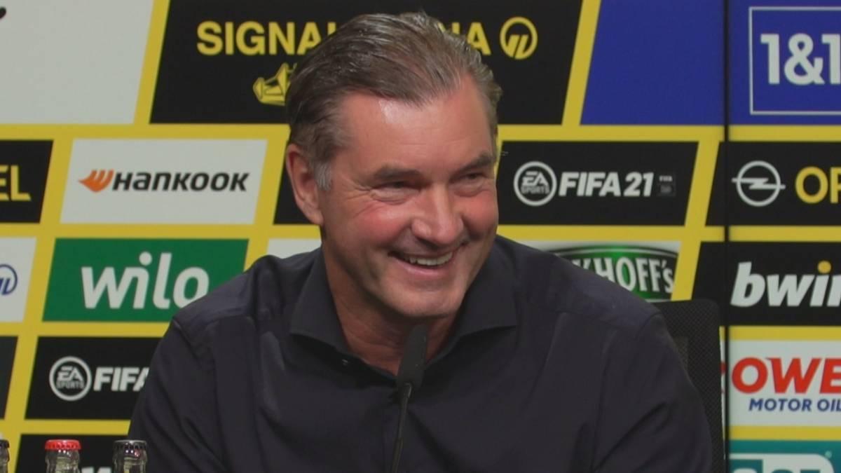 Borussia Dortmund hat im Poker um Jadon Sancho bereits früh Klartext gesprochen und einen Wechsel noch in diesem Transferfenster ausgeschlossen. Die Beharrlichkeit eines englischen Reporters bringt BVB-Sportdirektor Zorc allerdings zum Schmunzeln.