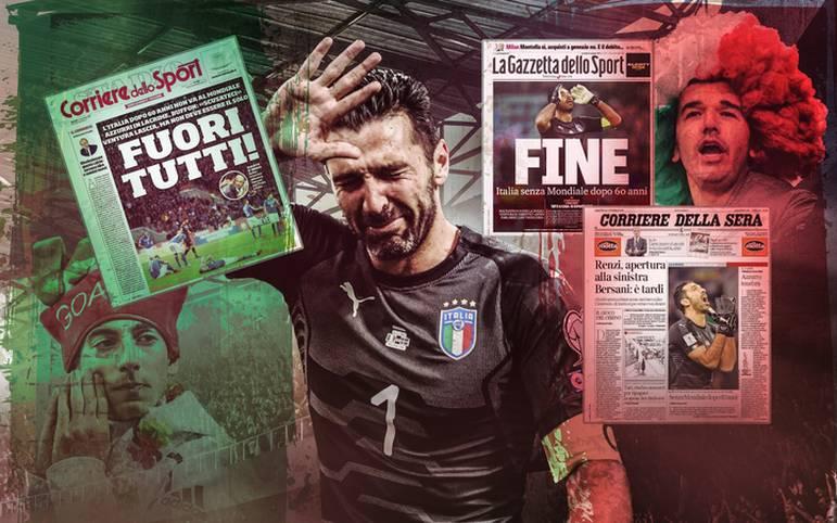 Erstmals seit 1958 qualifiziert sich Italien nicht für eine WM. Die internationalen Medien gehen hart mit der Mannschaft ins Gericht. SPORT1 zeigt die internationalen Pressestimmen