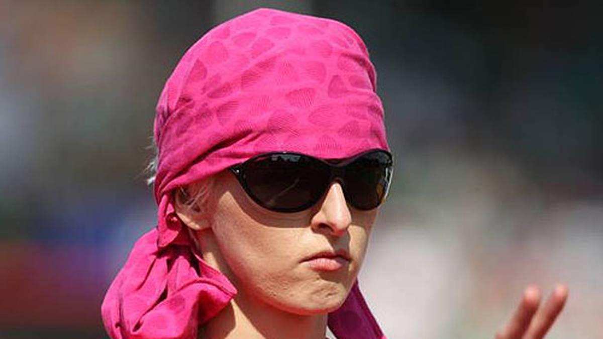 Hochspringerin Ariane Friedrich bleibt bei den deutschen Meisterschaften 2009 ganz cool