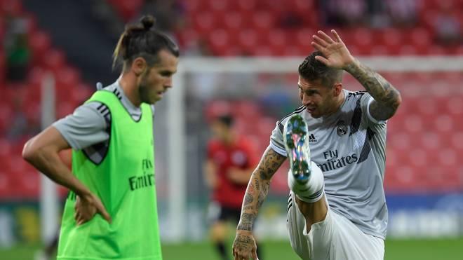 Real Madrid muss bei ZSKA Moskau ohne Gareth Bale (l.) und Sergio Ramos auskommen