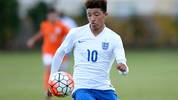 Jadon Sancho beim Debüt für Englands U16