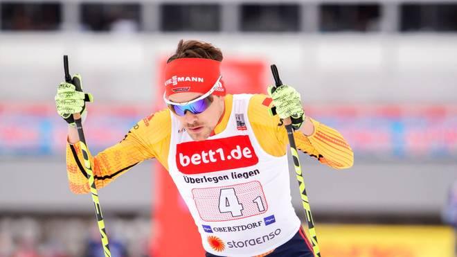 Fabian Rießle landet nicht unter den ersten drei