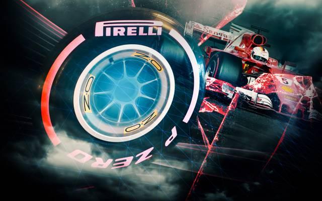 Sebastian Vettel fährt in der Formel 1 mit rosa Reifen