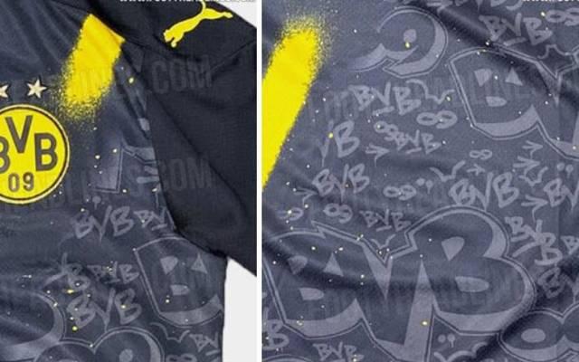 Im geleakten BVB-Trikot finden sich einige Graffiti-Elemente