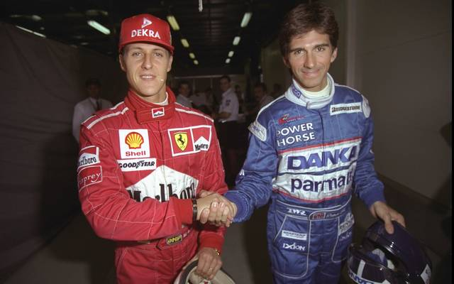 Michael Schumacher und Damon Hill waren in den 1990er Jahren Rivalen in der Formel 1