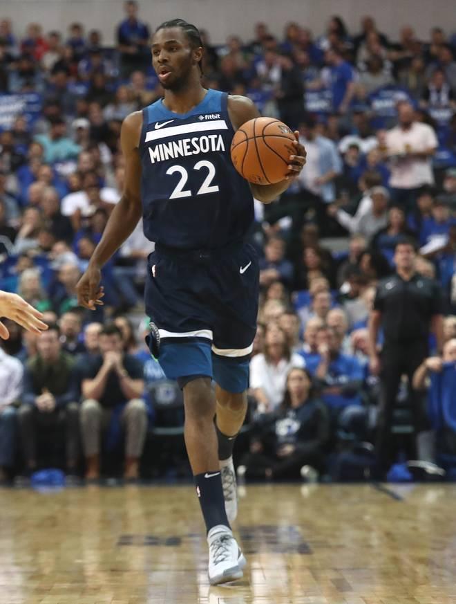 Andrew Wiggins von den Minnesota Timberwolves