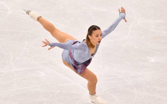 Nicole Schott während ihrer Kür bei Olympia