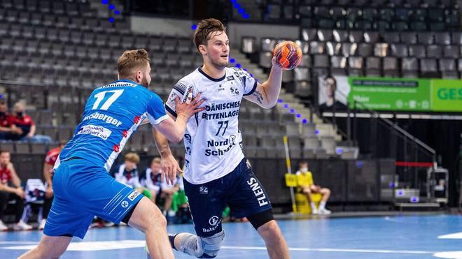 Magnus Abelvik Rod (r.) und die SG Flensburg-Handewitt kommen der Meisterschaft in der HBL immer näher