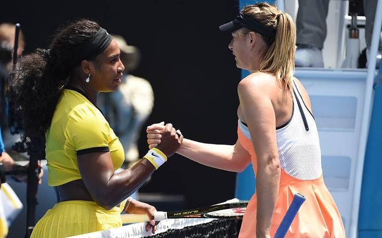Es ist das Duell zweier großer Namen im Tennis: Bei den US Open 2019 treffen Serena Williams (l.) und Maria Sharapova (r.) schon in der ersten Runde aufeinander (Dienstag, ab 1 Uhr im LIVETICKER)