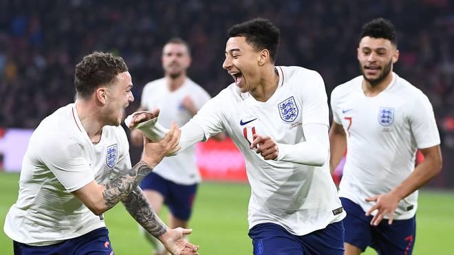 Jesse Lingard erzielte das Tor des Tages für England