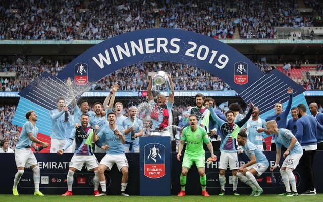 Manchester City holte in der vergangenen Saison den Titel im FA Cup