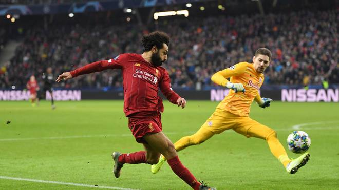 Mohamed Salah erzielte das 2:0 des FC Liverpool gegen RB Salzburg
