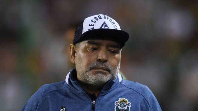 Diego Maradona war mit der Schiedsrichterleistung nicht einverstanden