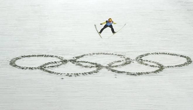 Noriaki Kasai gewann bei den Olympischen Spielen 2014 in Sotschi zwei Medaillen