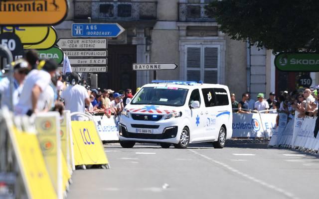 Wout Van Aert ist beim Zeitfahren der Tour de France gestürzt
