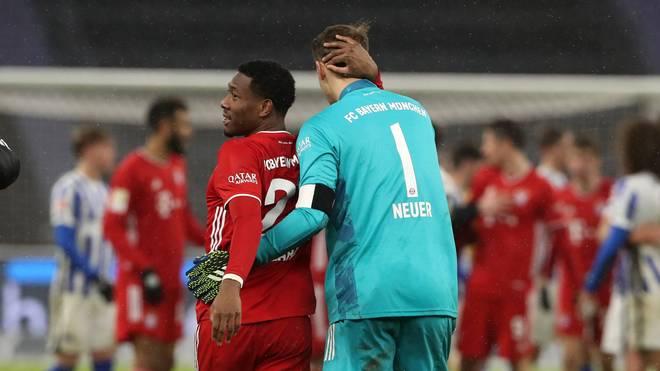 Manuel Neuer (r.) hätte David Alaba gerne länger in München