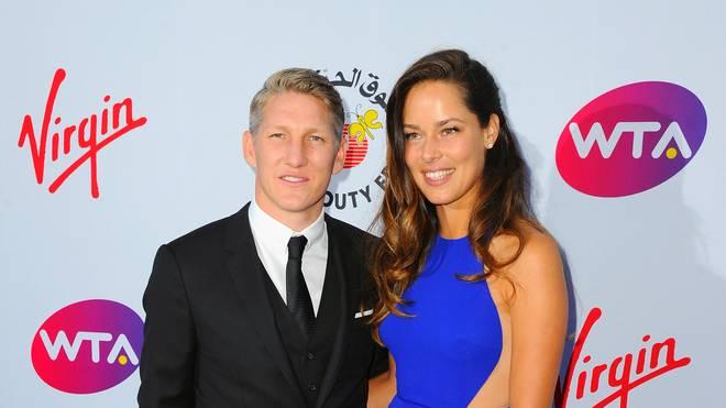 Ana Ivanovic and Bastian Schweinsteiger vor der Party