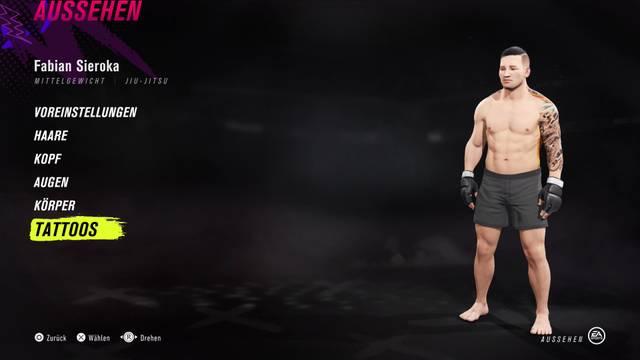 UFC 4 bietet viele Anpassungsmöglichkeiten für den eigenen Kämpfer