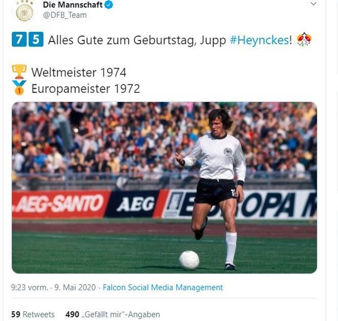 Die DFB-Elf gratuliert dem ehemaligen Nationalstürmer