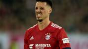 DUESSELDORF, GERMANY - JANUARY 13: Sandro Wagner of Muenchen reacts after missing a penalty during the Telekom Cup 2019 Final between FC Bayern Muenchen and Borussia Moenchengladbach at Merkur Spiel-Arena on January 13, 2019 in Duesseldorf, Germany. (Photo by Lars Baron/Bongarts/Getty Images)